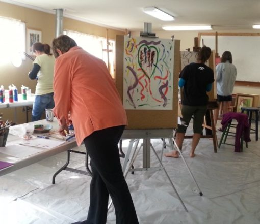 Intuitive Painting Workshop with Vicki Johnson in Bend, Oregon
