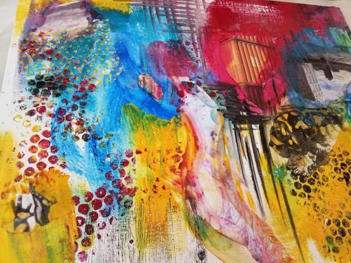 Intuitive Collage Workshop with Vicki Johnson in Bend, Oregon